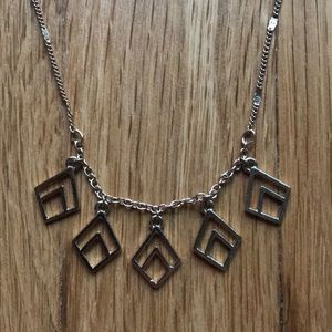 LC • Necklace gold metal geometric shapes
